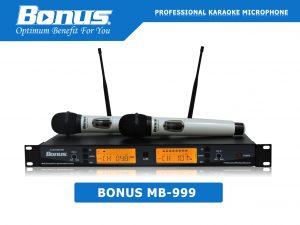 Micro karaoke không dây Bonus MB-999 chuyên nghiệp.