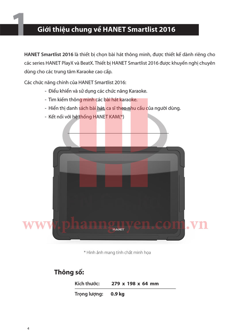 Hướng dẫn sử dụng Tablet Hanet Smartlist