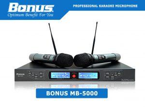 Micro karaoke không dây Bonus MB-5000 chuyên nghiệp.