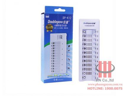 Bộ sạc pin 12 viên DoublePow DP-K12