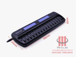 Bộ sạc pin thông minh 16 viên DoublePow DP-K106