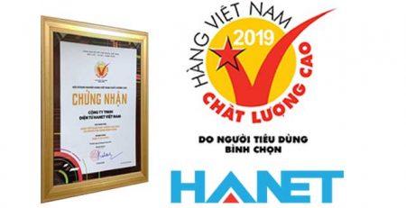 Hanet karaoke đạt chứng nhận Hàng Việt Nam chất lượng cao năm 2019