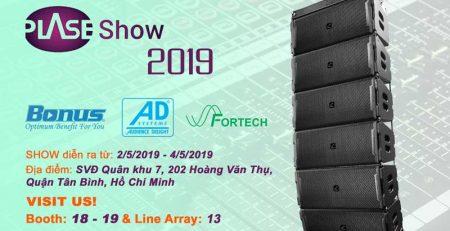 Phan Nguyễn Audio tham dự triễn lãm thiết bị âm thanh chuyên nghiệp PLASE SHOW 2019
