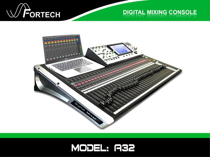 Digital Mixer - Bàn trộn kỹ thuật số Fortech A32