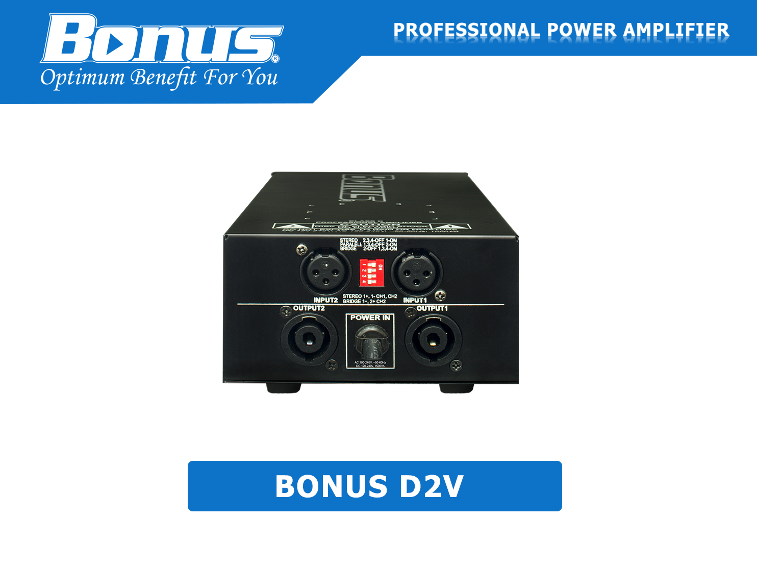 Cục đẩy công suất - Main Power Bonus D2V class D autovolt
