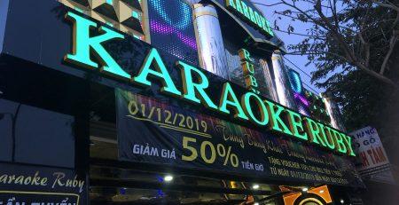 Công trình thi công âm thanh - nội thất karaoke chuyên nghiệp tại RUBY Bình Chánh