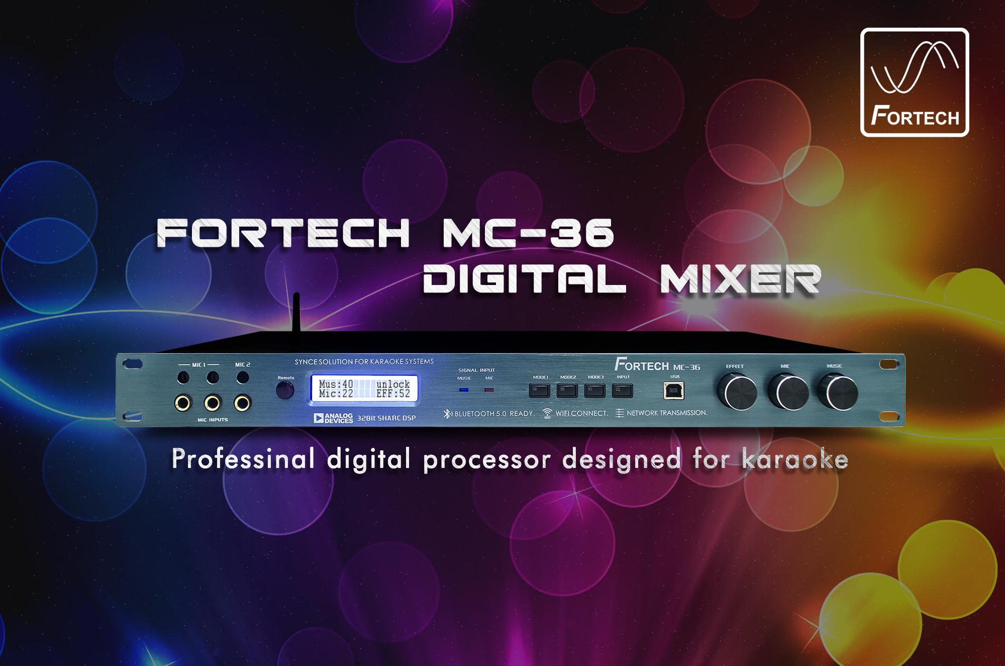 Vang số - Mixer digital Fortech MC-36 chuyên nghiệp.